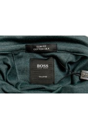 "Hugo Boss ""T-Tustin 06"" Men's Silk Green Turtleneck Pullover Sweater: Picture 7"