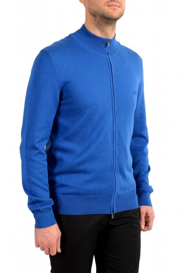 "Hugo Boss ""Palano-L"" Men's Bright Blue Full Zip Cardigan Sweater: Picture 2"