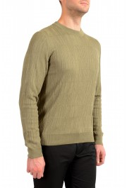 "Hugo Boss ""T-Piroli"" Men's 100% Silk Olive Green Pullover Sweater: Picture 2"