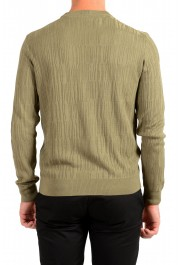 "Hugo Boss ""T-Piroli"" Men's 100% Silk Olive Green Pullover Sweater: Picture 3"