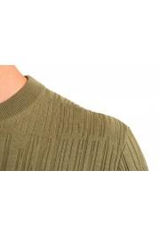"Hugo Boss ""T-Piroli"" Men's 100% Silk Olive Green Pullover Sweater: Picture 4"