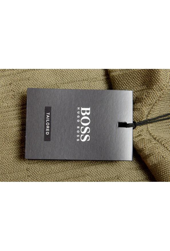 "Hugo Boss ""T-Piroli"" Men's 100% Silk Olive Green Pullover Sweater: Picture 5"