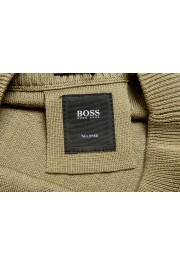 "Hugo Boss ""T-Piroli"" Men's 100% Silk Olive Green Pullover Sweater: Picture 6"