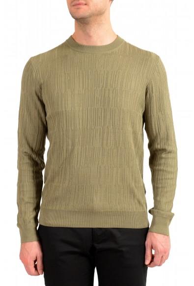 "Hugo Boss ""T-Piroli"" Men's 100% Silk Olive Green Pullover Sweater"