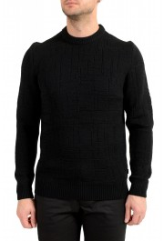 "Hugo Boss ""Dimondo"" Men's Black Wool Crewneck Pullover Sweater"