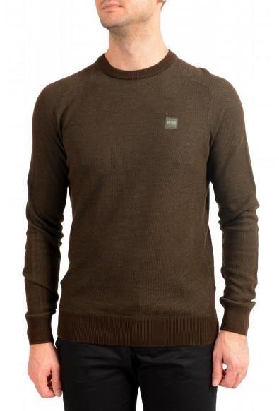 "Hugo Boss ""Amador"" Men's Linen Crewneck Pullover Sweater"