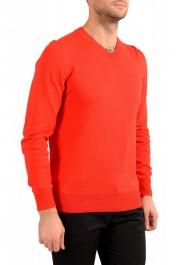 "Hugo Boss ""Pacello-L"" Men's Red V-Neck Pullover Sweater: Picture 2"