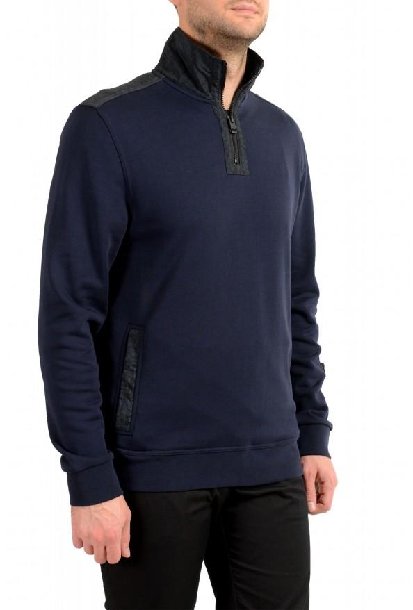 """Hugo Boss """"Zplinter"""" Men's Blue Zip UP Sweatshirt Sweater: Picture 2"""