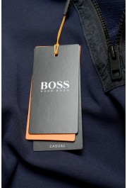 """Hugo Boss """"Zplinter"""" Men's Blue Zip UP Sweatshirt Sweater: Picture 4"""