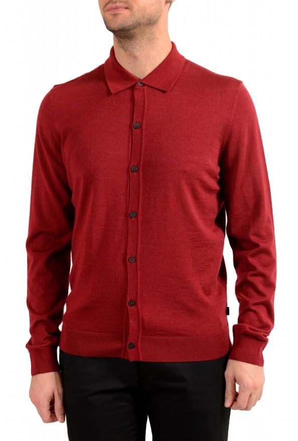 "Hugo Boss ""Dercole"" Men's Silk Wool Cardigan Pullover Sweater"
