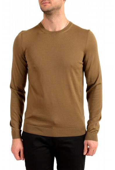 "Hugo Boss ""Leno-P"" Men's 100% Wool Crewneck Pullover Sweater"