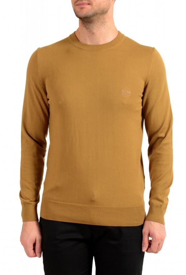 "Hugo Boss ""Pacas-L"" Men's Brown Crewneck Pullover Sweater"