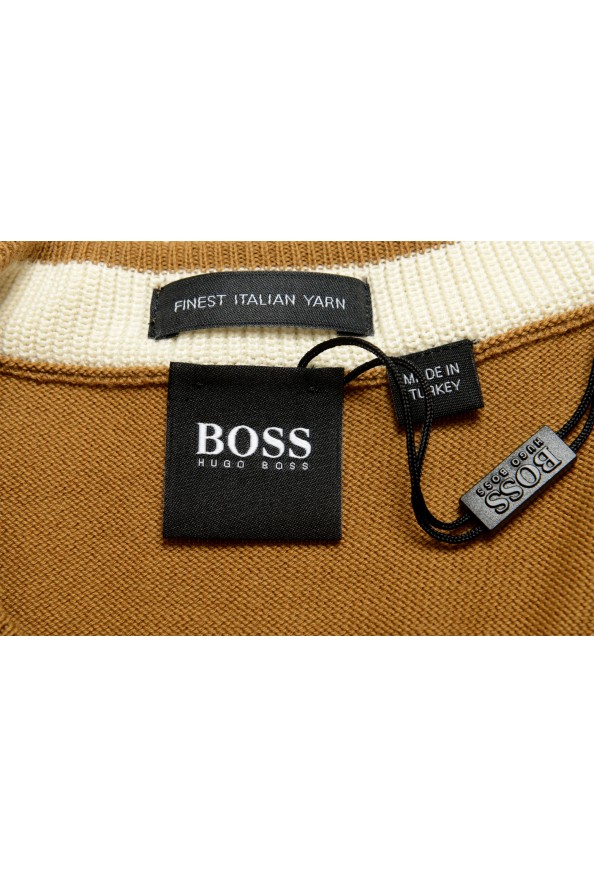 "Hugo Boss ""Pacas-L"" Men's Brown Crewneck Pullover Sweater: Picture 5"