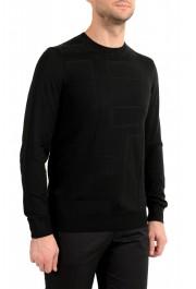 "Hugo Boss ""T-Dante"" Men's Black 100% Silk Crewneck Pullover Sweater: Picture 2"