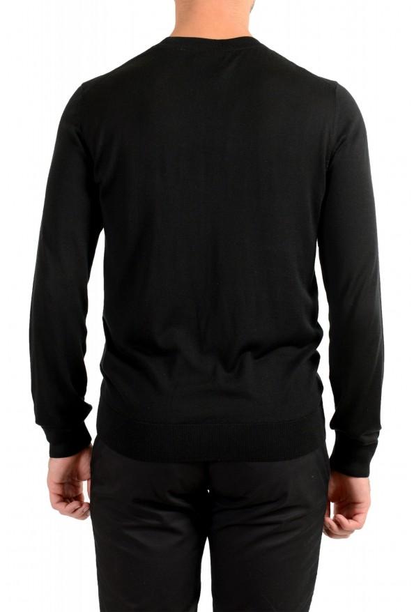 "Hugo Boss ""T-Dante"" Men's Black 100% Silk Crewneck Pullover Sweater: Picture 3"