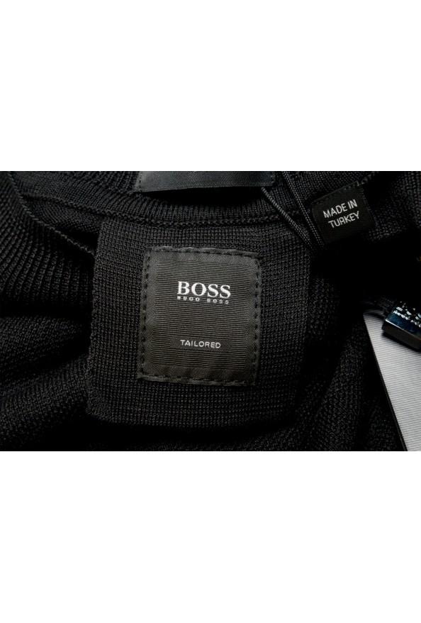 "Hugo Boss ""T-Dante"" Men's Black 100% Silk Crewneck Pullover Sweater: Picture 6"