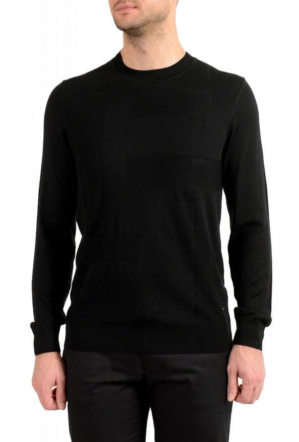 "Hugo Boss ""T-Dante"" Men's Black 100% Silk Crewneck Pullover Sweater"
