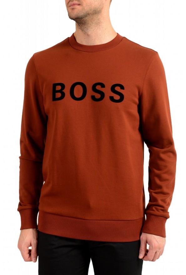 """Hugo Boss """"Stadler 50"""" Men's Logo Print Sweatshirt Sweater"""