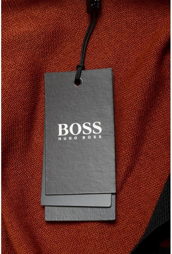 "Hugo Boss ""Pendolo"" Men's Rust Brown Cardigan Pullover Sweater: Picture 5"