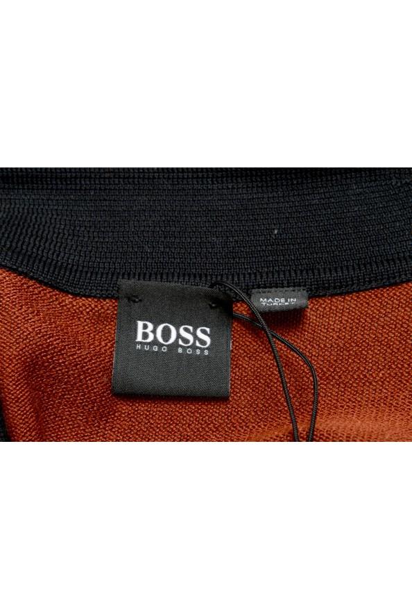 "Hugo Boss ""Pendolo"" Men's Rust Brown Cardigan Pullover Sweater: Picture 6"