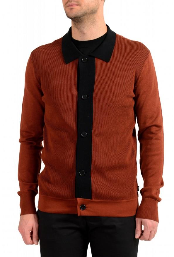 "Hugo Boss ""Pendolo"" Men's Rust Brown Cardigan Pullover Sweater"