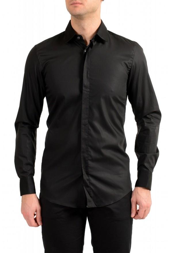 "Hugo Boss Men's ""Jalton"" Black Slim Fit Long Sleeve Dress Shirt"