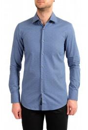"Hugo Boss Men's ""Jenno"" Slim Fit Geometric Print Long Sleeve Shirt"