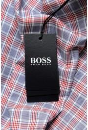 "Hugo Boss Men's ""Jason"" Slim Fit Plaid Long Sleeve Dress Shirt : Picture 6"