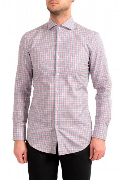 """Hugo Boss Men's """"Jason"""" Slim Fit Plaid Long Sleeve Dress Shirt"""