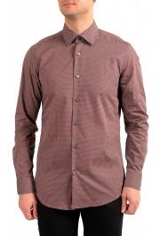 "Hugo Boss Men's ""Jango"" Slim Fit Geometric Print Dress Shirt"