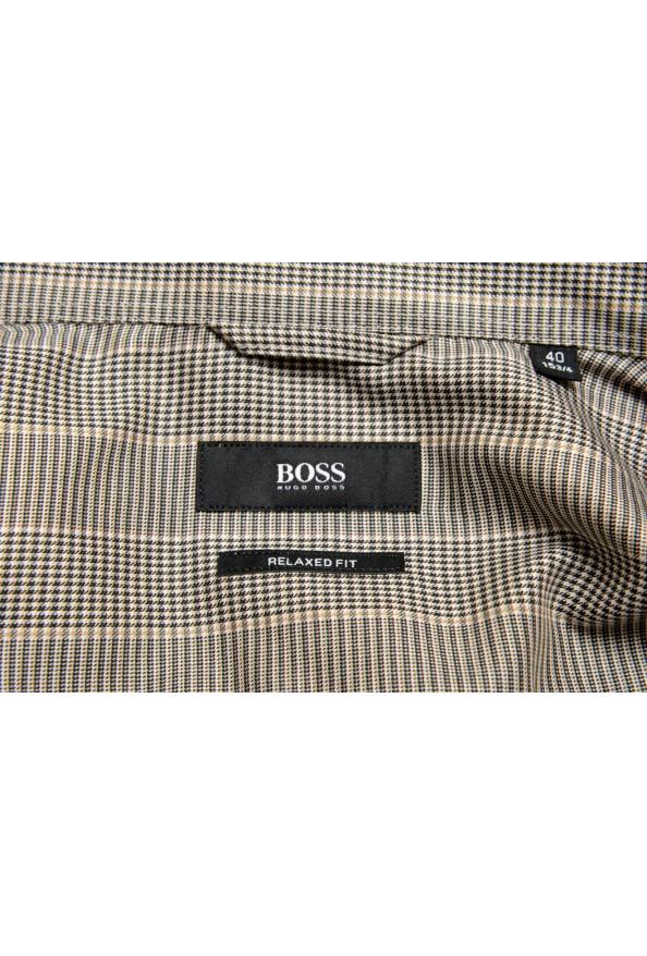 "Hugo Boss Men's ""Felton"" Relaxed Fit Plaid Dress Shirt: Picture 7"