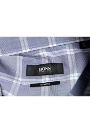 "Hugo Boss Men's ""Jason"" Slim Fit Plaid Long Sleeve Dress Shirt: Picture 7"