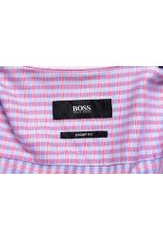 "Hugo Boss Men's ""Mark US"" Sharp Fit Plaid Dress Shirt: Picture 5"