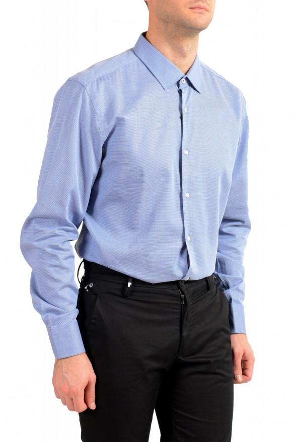 "Hugo Boss Men's ""Jesse"" Slim Fit Blue Long Sleeve Dress Shirt: Picture 4"