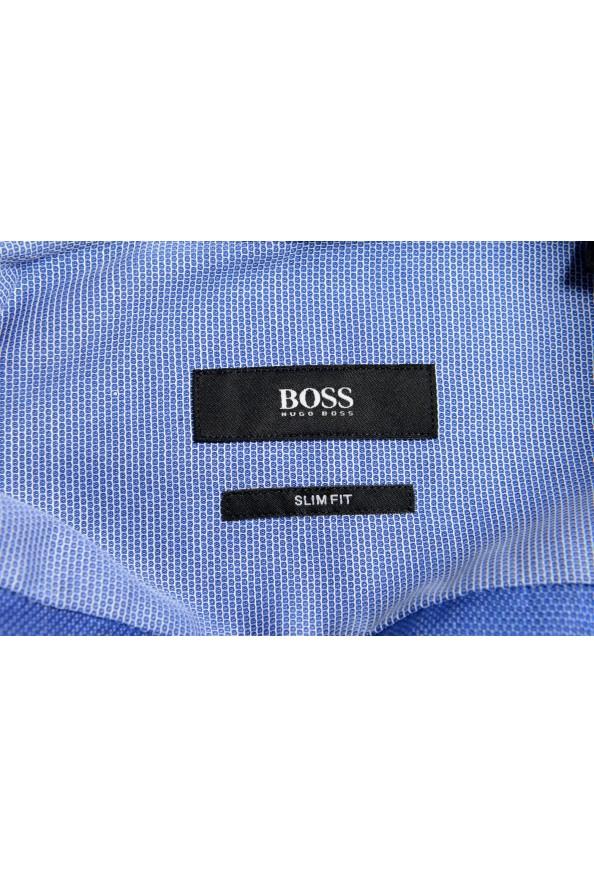"Hugo Boss Men's ""Jesse"" Slim Fit Blue Long Sleeve Dress Shirt: Picture 7"