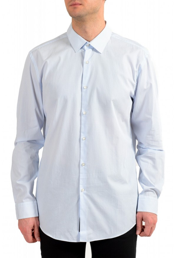 "Hugo Boss Men's ""Isko"" Slim Fit Geometric Print Dress Shirt"
