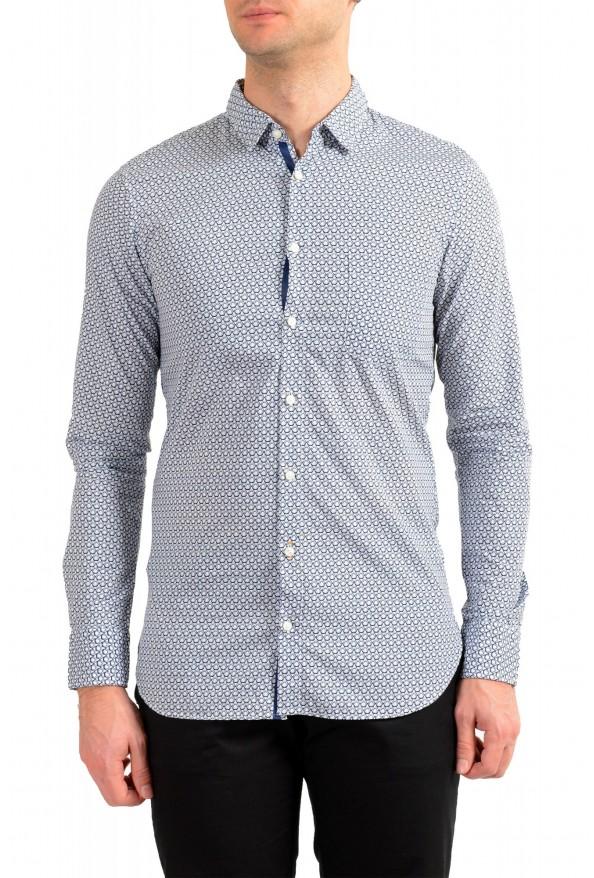 "Hugo Boss Men's ""Magneton_1"" Slim Fit Geometric Print Casual Shirt"