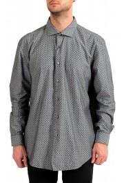 "Hugo Boss Men's ""Ronni_53F"" Slim Fit Geometric Print Casual Shirt"