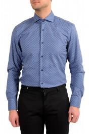 "Hugo Boss Men's ""Jason"" Slim Fit Geometric Print Dress Shirt : Picture 4"