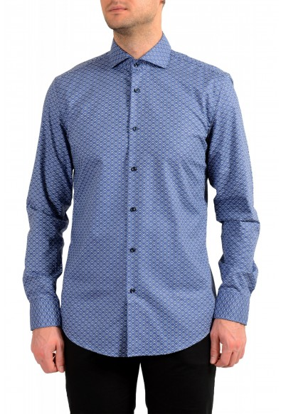 "Hugo Boss Men's ""Jason"" Slim Fit Geometric Print Dress Shirt"