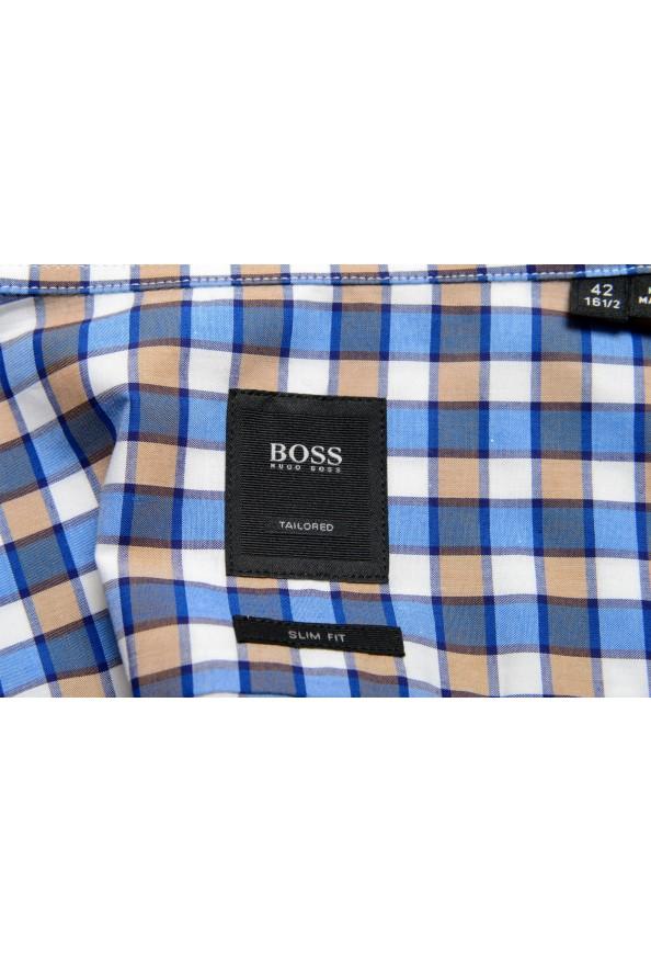 "Hugo Boss Men's ""T-Christo"" Slim Fit Plaid Long Sleeve Dress Shirt: Picture 7"