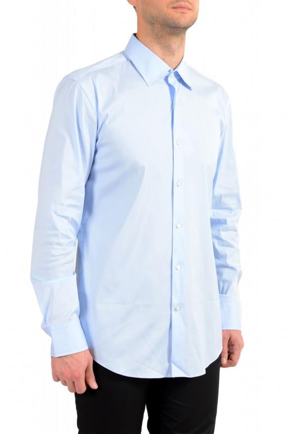 "Hugo Boss Men's ""Jango"" Slim Fit Blue Long Sleeve Dress Shirt: Picture 2"