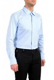 "Hugo Boss Men's ""Jango"" Slim Fit Blue Long Sleeve Dress Shirt: Picture 4"