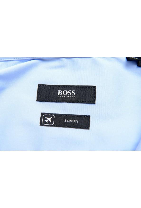 "Hugo Boss Men's ""Jango"" Slim Fit Blue Long Sleeve Dress Shirt: Picture 6"