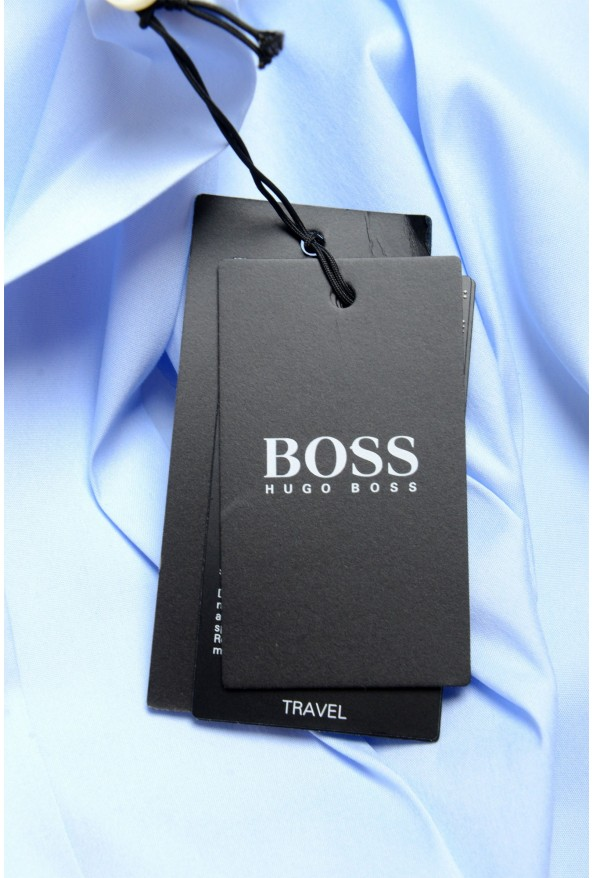 "Hugo Boss Men's ""Jango"" Slim Fit Blue Long Sleeve Dress Shirt: Picture 7"