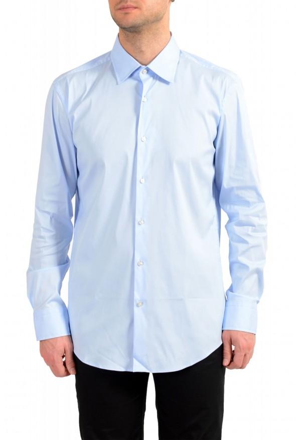 "Hugo Boss Men's ""Jango"" Slim Fit Blue Long Sleeve Dress Shirt"