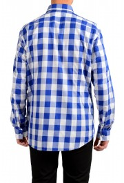 "Hugo Boss Men's ""Ismo"" Slim Fit Linen Plaid Long Sleeve Dress Shirt: Picture 3"