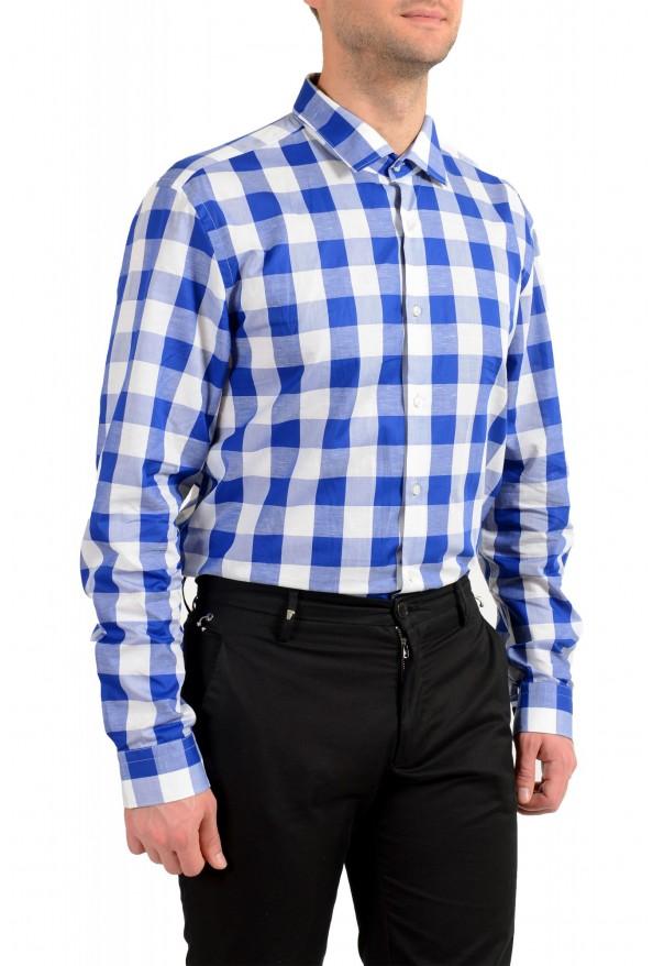 "Hugo Boss Men's ""Ismo"" Slim Fit Linen Plaid Long Sleeve Dress Shirt: Picture 4"