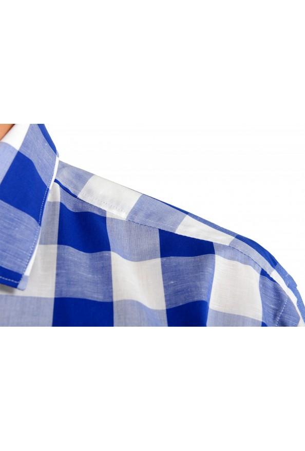 "Hugo Boss Men's ""Ismo"" Slim Fit Linen Plaid Long Sleeve Dress Shirt: Picture 5"