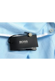 "Hugo Boss Men's ""Jerrin"" Slim Fit Blue Long Sleeve Dress Shirt : Picture 6"